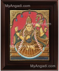 Antique Saraswathi Tanjore Painting, Traditional Saraswathi Tanjore Painting