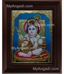 Butter Krishna Tanjore Painting, Baby Krishna Tanjore Painting