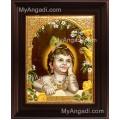 Child Krishna Tanjore Painting, Baby Krishna Tanjore Painting