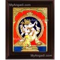 Dancing Ganesha Tanjore Painting, Ganesha Tanjore Painting