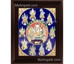 Dasavatharam Tanjore Painting, Vishnu Avatharam Tanjore Painting