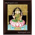 Dhana Lakshmi Tanjore Painting, Dhanalakshmi Tanjore Painting