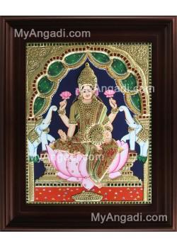 Gaja Lakshmi Tanjore Painting, Gajalakshmi Tanjore Painting