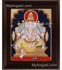 Ganesha Tanjore Painting, Ganesha Tanjore Painting
