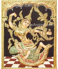 Indonesia Sita Tanjore Painting, Sita Tanjore Painting