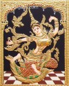 Indonesia Sita Tanjore Painting, Sita Tanjore Painting