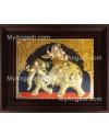 Iyravatham Tanjore Painting, Elephant Tanjore Painting