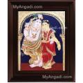 Krishna Radha Tanjore Painting, Radha Krishna Tanjore Painting