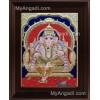 Mantap Ganesha Tanjore Painting, Ganesha Tanjore Painting