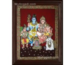 Lord Shiva Family Tanjore Painting