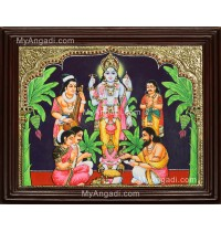 Sathyanarayana Tanjore Painting