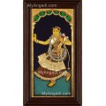 Dancing Lady Tanjore Painting