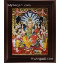 Narasimar Tanjore Painting, Lakshmi Narasimhar Tanjore Painting