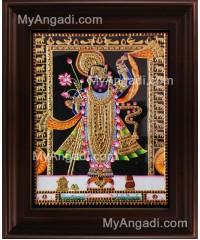 North India Krishna Tanjore Painting, Krishna Tanjore Painting