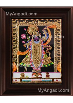 North India Krishna Tanjore Painting, Krishna Tanjore Painting
