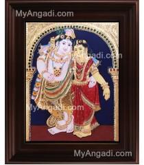 Radha Krishna Tanjore Painting, Krishna Tanjore Painting