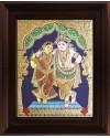 Rukmani Krishna Tanjore Painting, Krishna Tanjore Painting