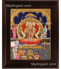 Santhoshi Maatha Tanjore Painting, Amman Tanjore Painting