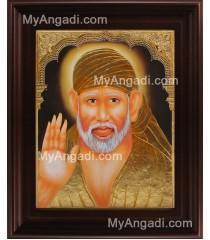 Shiridi Sai Baba Tanjore Painting, Saint Tanjore Painting