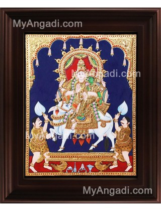 Sivan Paarvathi Tanjore Painting, Ganesha Tanjore Painting
