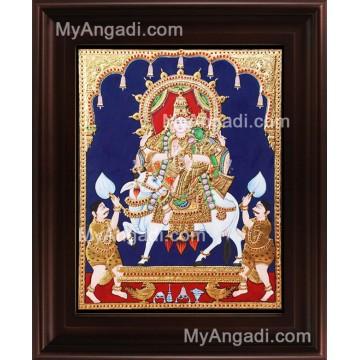 Sivan Paarvathi Tanjore Painting, Ganesha Tanjore Painting