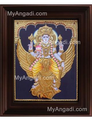 Vishnu Karudan Tanjore Painting, Vishnu Tanjore Painting