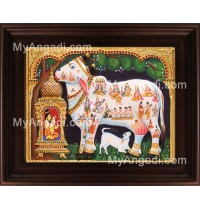 White Komatha Tanjore Painting, Komatha Tanjore Painting